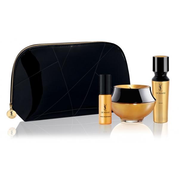 Yves Saint Laurent - Or Rouge Discovery Skincare Set - Olio di Rouge - Crema per gli Occhi - Siero - Luxury