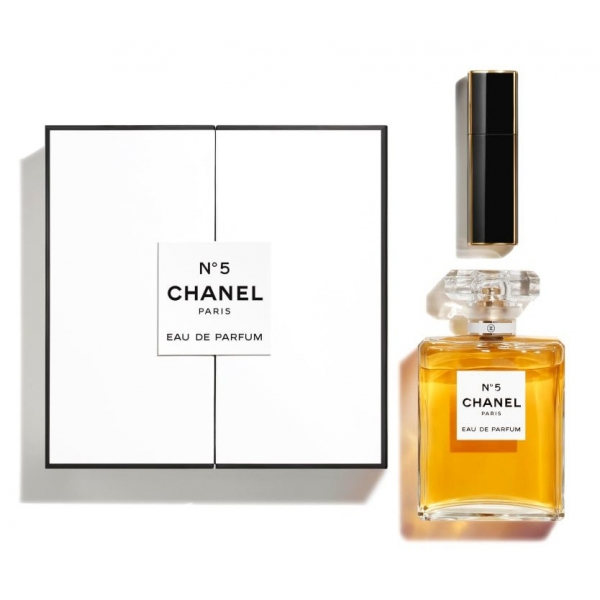 Chanel - N ° 5 - Coffret N°5 Eau De Parfum 100 ml + Mini Twist and Spray 7 ml - Luxury Fragrances