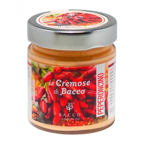 Bacco - Tipicità al Pistacchio - Le Cremose di Bacco - Peperoncino - Creme Spalmabili Artigianali - 190 g