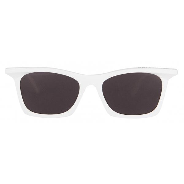 Balenciaga - Rim Rectangle Sunglasses - White - Sunglasses - Balenciaga Eyewear
