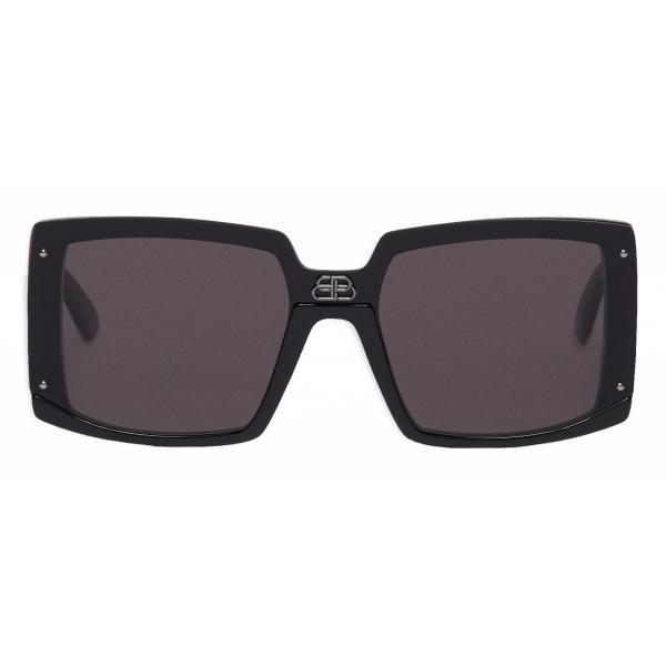 Balenciaga - Shield Square Sunglasses - Black - Sunglasses - Balenciaga Eyewear