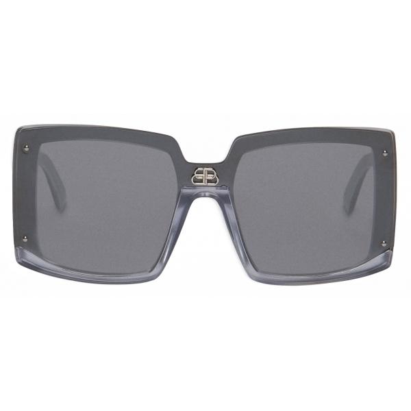 Balenciaga - Occhiali da Sole Shield Square - Perla Argento - Occhiali da Sole - Balenciaga Eyewear