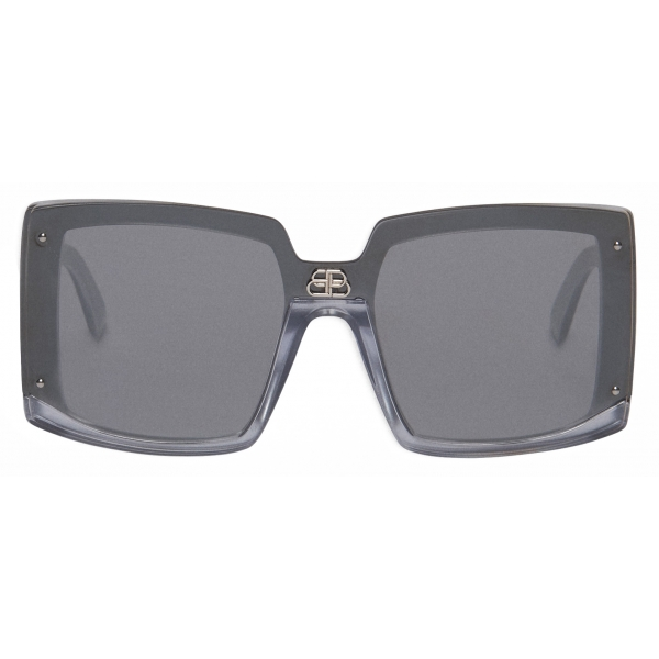 Balenciaga - Shield Square Sunglasses - Silver Pearl - Sunglasses - Balenciaga Eyewear