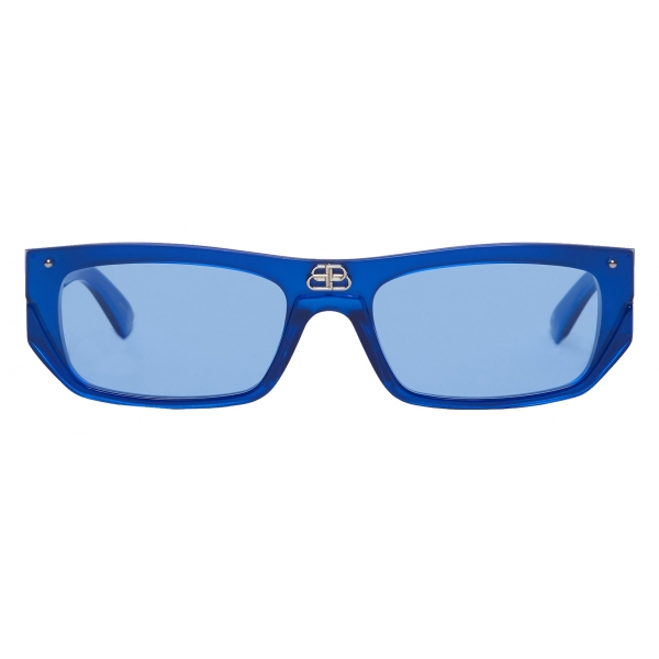 Balenciaga - Occhiali da Sole Shield Rectangle - Perla Blu - Occhiali da Sole - Balenciaga Eyewear