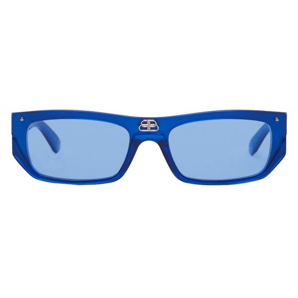 Balenciaga - Occhiali da Sole Shield Rectangle - Perla Blu - Occhiali da Sole - Balenciaga Eyewear