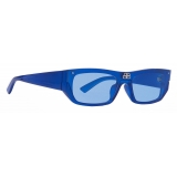 Balenciaga - Shield Rectangle Sunglasses - Blue Pearl - Sunglasses - Balenciaga Eyewear