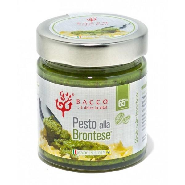 Bacco - Tipicità al Pistacchio - Pesto alla Brontese 65 % - Pistacchio di Bronte - 190 g