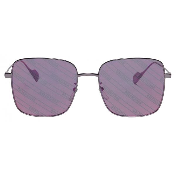 Balenciaga - Occhiali da Sole Ghost Square - Rosa Argento - Occhiali da Sole - Balenciaga Eyewear
