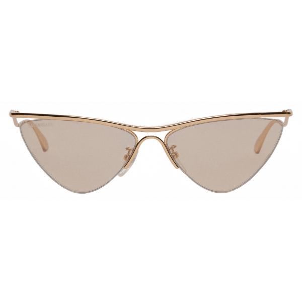 Balenciaga - Curve Cat Sunglasses - Gold - Sunglasses - Balenciaga Eyewear