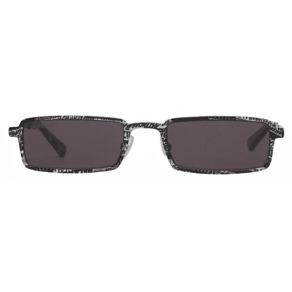 Balenciaga - Graphic Rectangle Sunglasses - Grey Zebra - Sunglasses - Balenciaga Eyewear
