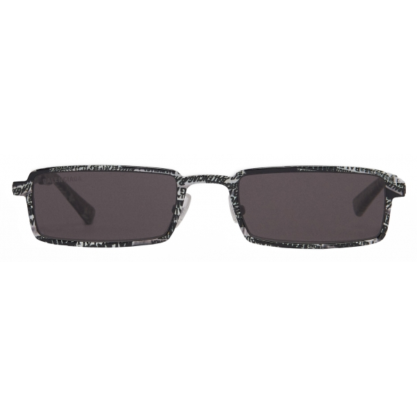 Balenciaga - Occhiali da Sole Graphic Rectangle - Zebra Grigia - Occhiali da Sole - Balenciaga Eyewear