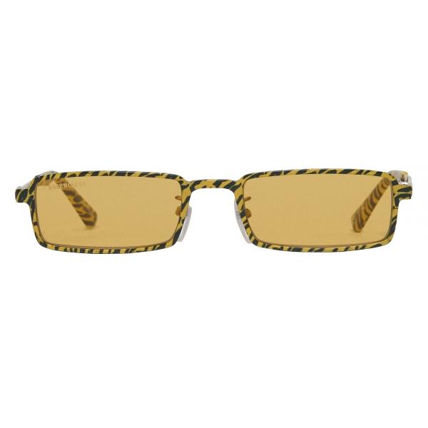 Balenciaga - Graphic Rectangle Sunglasses - Yellow Zebra - Sunglasses - Balenciaga Eyewear