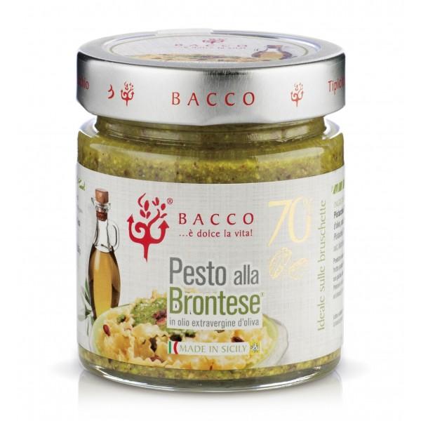 Bacco - Tipicità al Pistacchio - Pesto alla Brontese 70 % - Pistacchio di Bronte - 90 g