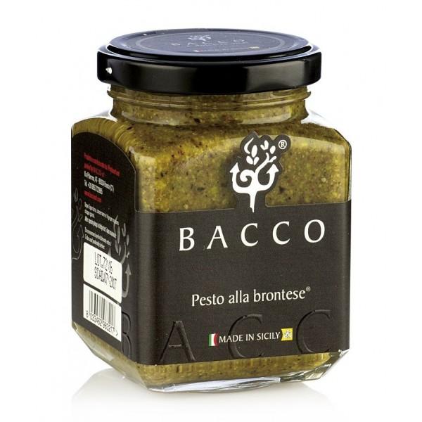 Bacco - Tipicità al Pistacchio - Pesto alla Brontese 80 % - Pistachio from Bronte - 190 g