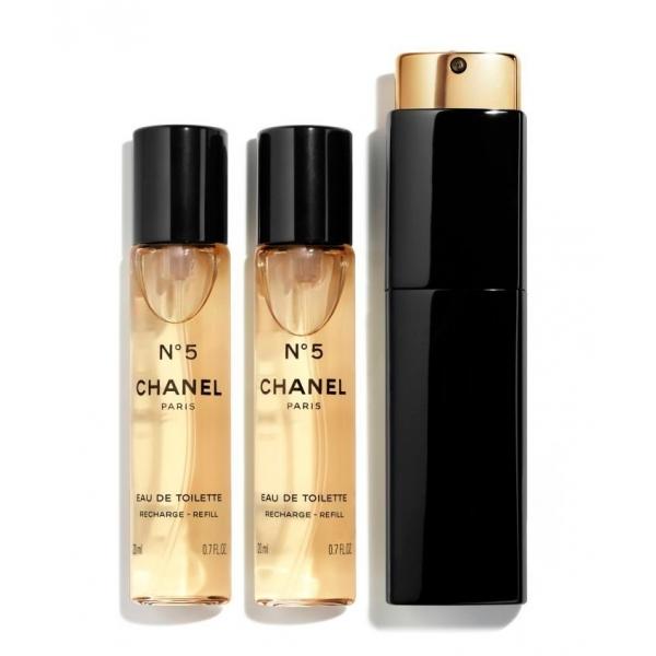Chanel - N°5 - Eau De Toilette Vaporizzatore Da Borsetta - Fragranze Luxury - 3x20 ml