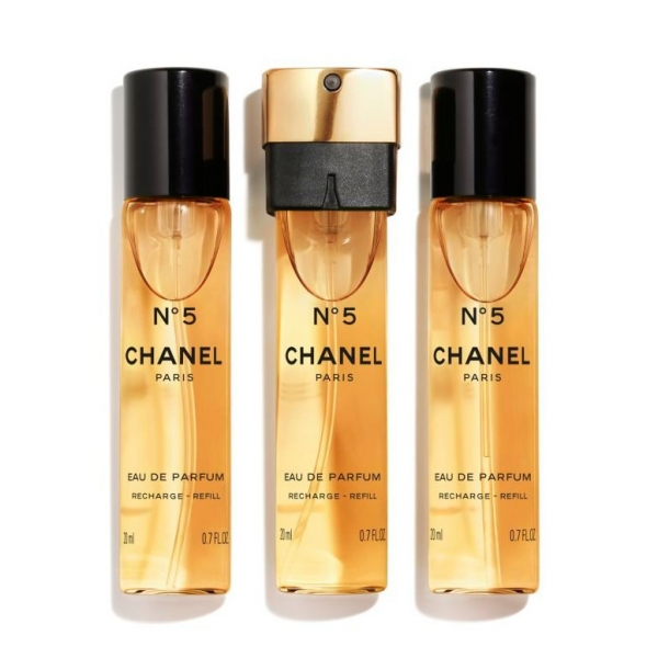 Chanel - N°5 - Eau De Parfum Handbag Vaporizer Recharge - Luxury Fragrances - 3x20 ml