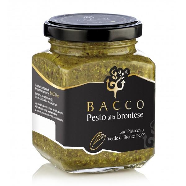 Bacco - Tipicità al Pistacchio - Pesto alla Brontese 80 % D.O.P. - Pistacchio di Bronte - 190 g