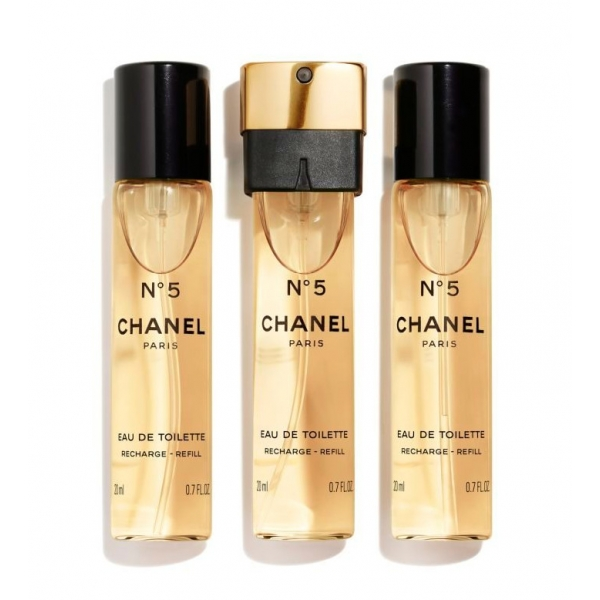 Chanel - N°5 - Eau De Toilette Handbag Vaporizer Recharge - Luxury Fragrances - 3x20 ml