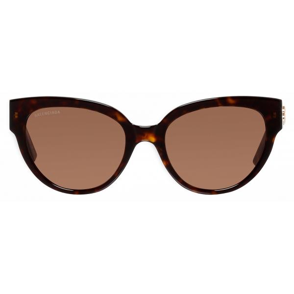 Balenciaga - Occhiali da Sole Flat Butterfly - Marron Cognac - Occhiali da Sole - Balenciaga Eyewear