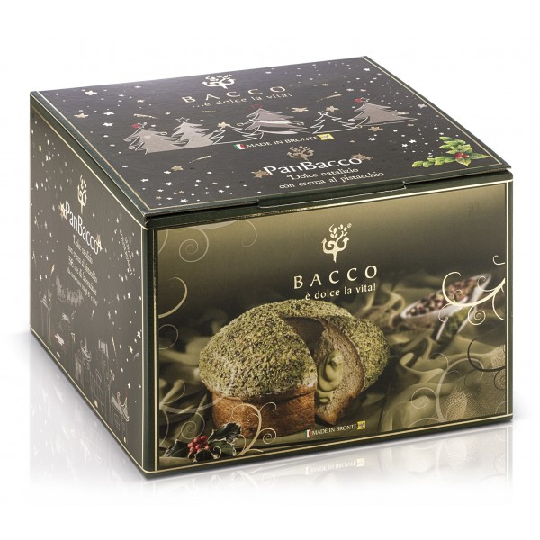 Bacco - Tipicità al Pistacchio - PanBacco al Pistacchio - Panettone Artigianale - 900 g