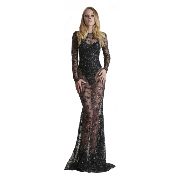 Danilo Forestieri - Embroidered Mermaid Long Dress - Dress - Haute Couture Made in Italy - Luxury Exclusive Collection