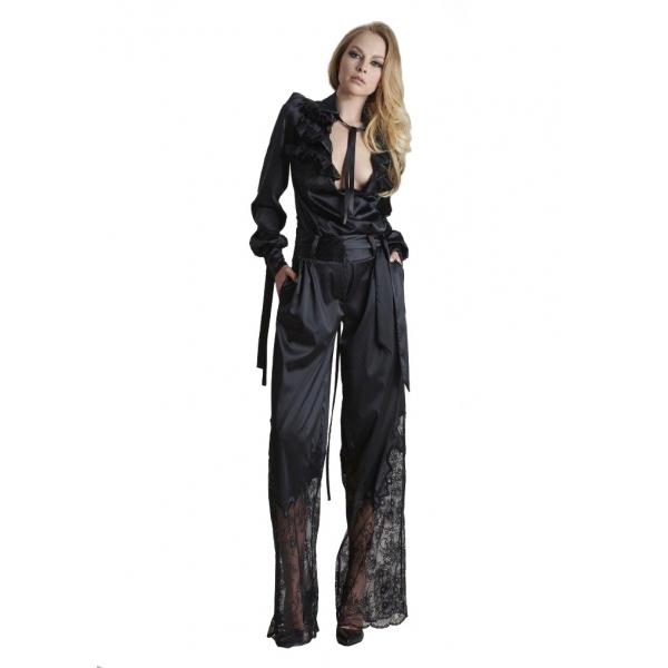 Danilo Forestieri - Pantalone Palazzo - Pantalone - Haute Couture Made in Italy - Luxury Exclusive Collection