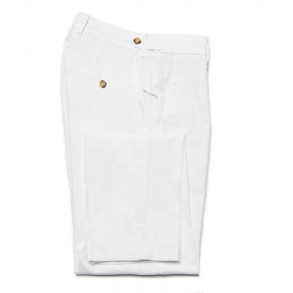 Cruna - Pantalone Raval in Cotone - 520 - Off White - Handmade in Italy - Pantaloni di Alta Qualità Luxury