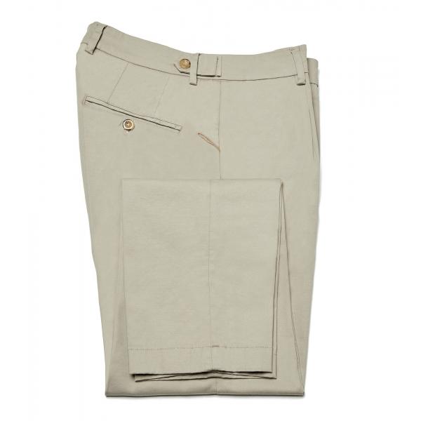 Cruna - Pantalone Raval in Cotone - 520 - Beige - Handmade in Italy - Pantaloni di Alta Qualità Luxury