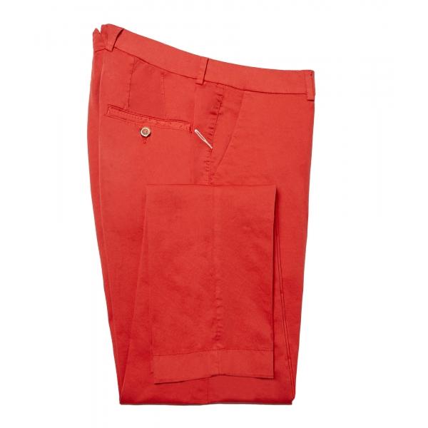 Cruna - Pantalone New Town in Cotone - 522 - Rosso - Handmade in Italy - Pantaloni di Alta Qualità Luxury