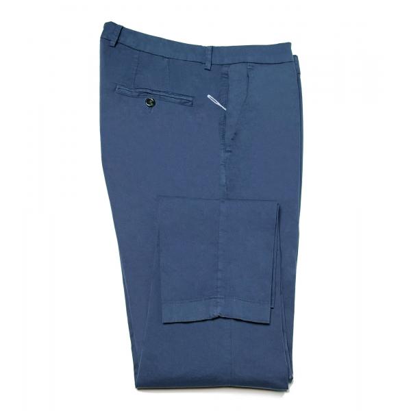 Cruna - Pantalone New Town in Cotone - 520 - Avio - Handmade in Italy - Pantaloni di Alta Qualità Luxury