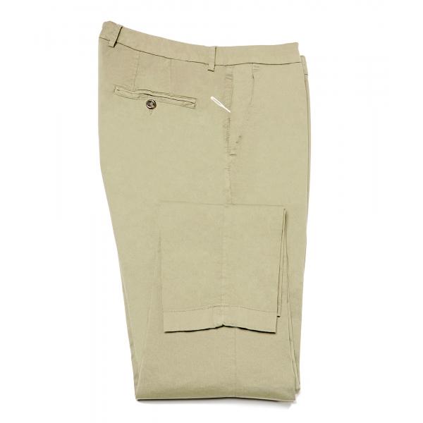 Cruna - Pantalone New Town in Cotone - 520 - Salvia - Handmade in Italy - Pantaloni di Alta Qualità Luxury
