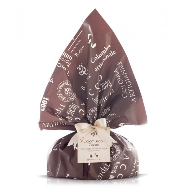 Bacco - Tipicità al Pistacchio - ColomBacco Retrò al Cacao - Colomba Artigianale - 900 g