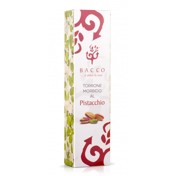Bacco - Tipicità al Pistacchio - Torrone Morbido di Pistacchio di Sicilia - Torrone Artigianale - 150 g