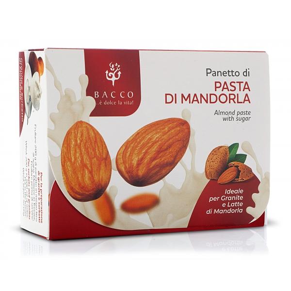 Bacco - Tipicità al Pistacchio - Panetto di Pasta di Mandorla - Per Granite e Latte di Mandorla - 200 g