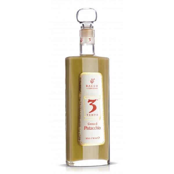 Bacco - Tipicità al Pistacchio - Terzo Tempo - Liquore al Pistacchio di Sicilia - Liquore Artigianale - 500 ml