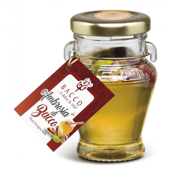 Bacco - Tipicità al Pistacchio - Ambrosia di Bacco - Miele con Pistacchio di Sicilia - 100 g