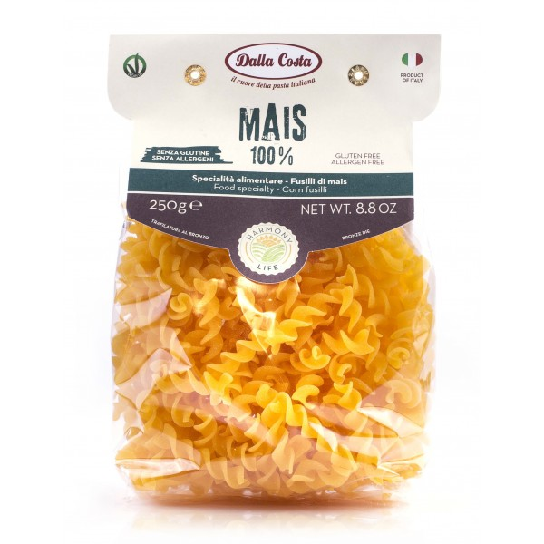 Dalla Costa - Harmony Life - Fusilli with Corn - Vegan Ok