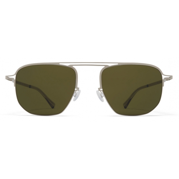 Mykita - MMCRAFT013 - Mykita & Maison Margiela - Argento Opaco Verde - Metal Collection - Occhiali da Sole - Mykita Eyewear