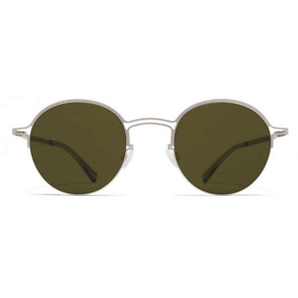 Mykita - MMCRAFT014 - Mykita & Maison Margiela - Argento Opaco Verde - Metal Collection - Occhiali da Sole - Mykita Eyewear