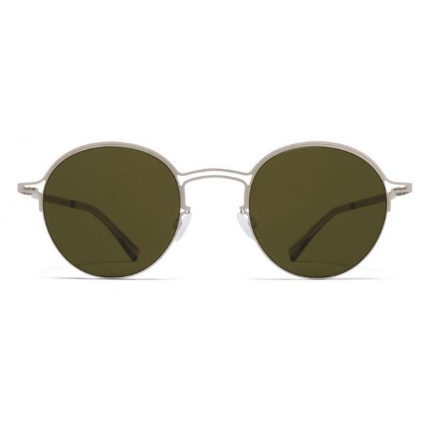 Mykita - MMCRAFT014 - Mykita & Maison Margiela - Matte Silver Green - Metal Collection - Sunglasses - Mykita Eyewear