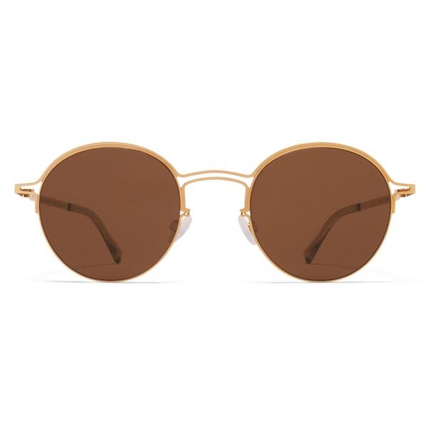 Mykita - MMCRAFT014 - Mykita & Maison Margiela - Glossy Gold Brown - Metal Collection - Sunglasses - Mykita Eyewear