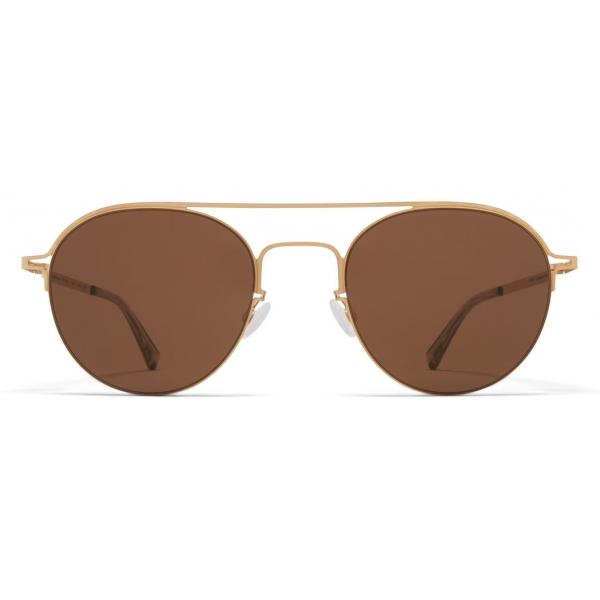 Mykita - MMCRAFT015 - Mykita & Maison Margiela - Glossy Gold Brown - Metal Collection - Sunglasses - Mykita Eyewear