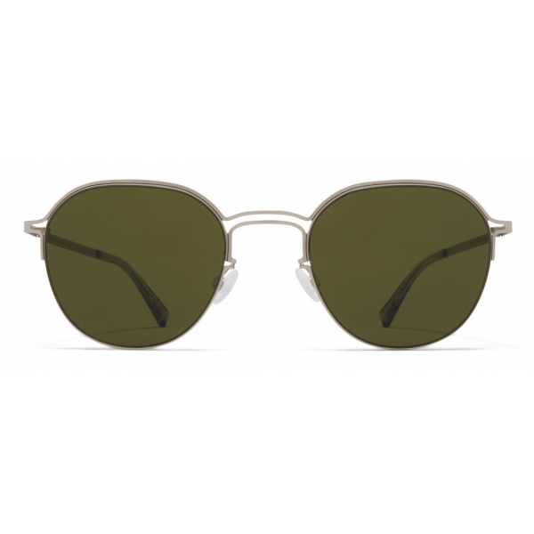 Mykita - MMCRAFT016 - Mykita & Maison Margiela - Argento Opaco Nero Verde - Metal Collection - Occhiali da Sole - Mykita Eyewear