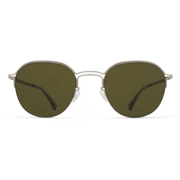Mykita - MMCRAFT016 - Mykita & Maison Margiela - Matt Silver Black Green - Metal Collection - Sunglasses - Mykita Eyewear