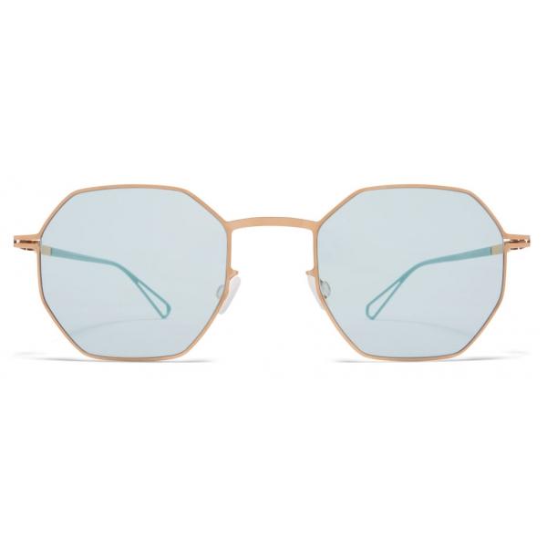 Mykita - Walsh - Mykita & Bernhard Willhelm - Champagne Gold Green - Metal Collection - Sunglasses - Mykita Eyewear