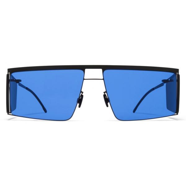 Mykita - HL001 - Mykita & Helmut Lang - Black Dark Grey Blue - Metal Collection - Sunglasses - Mykita Eyewear