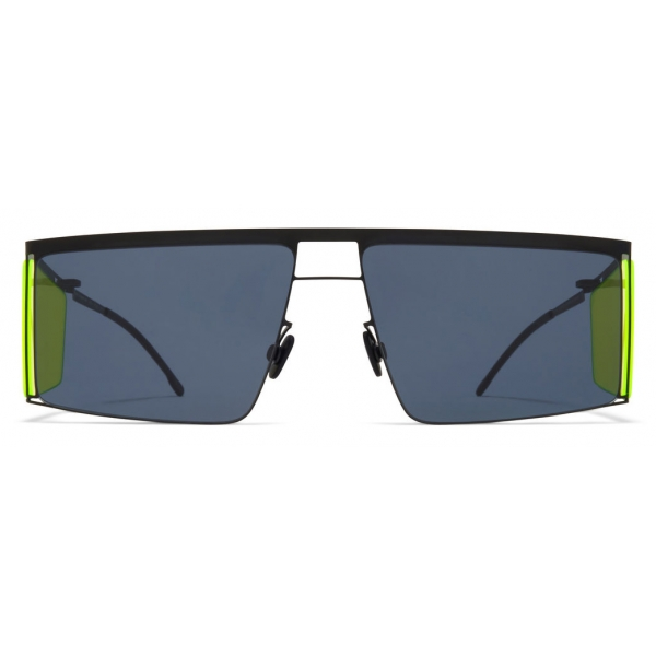 Mykita - HL001 - Mykita & Helmut Lang - Black Yellow Dark Grey - Metal Collection - Sunglasses - Mykita Eyewear
