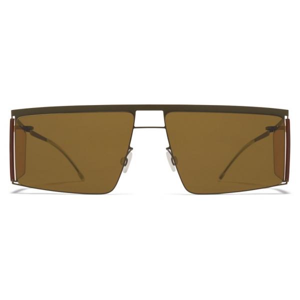 Mykita - HL001 - Mykita & Helmut Lang - Green Yellow Brown - Metal Collection - Sunglasses - Mykita Eyewear