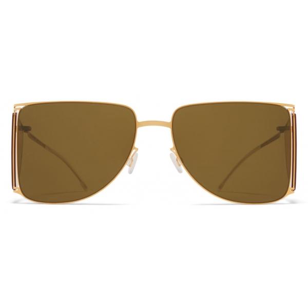 Mykita - HL002 - Mykita & Helmut Lang - Gold Yellow Brown - Metal Collection - Sunglasses - Mykita Eyewear