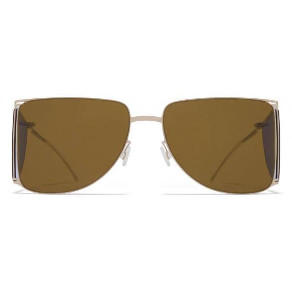Mykita - HL002 - Mykita & Helmut Lang - Grey Blue Brown - Metal Collection - Sunglasses - Mykita Eyewear